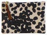 Dermond Peterson Small Scattered Dots Pouch in Black