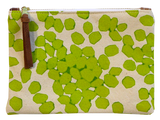 Dermond Peterson Small Scattered Dots Pouch in Chartreuse