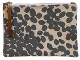 Dermond Peterson Small Scattered Dots Pouch in Gray