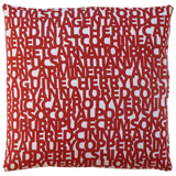 Dermond Peterson Words for Red Pillow