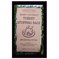 Regency Natural Turkey Stuffing Bag Set/2