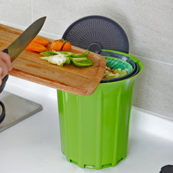 Full Circle Green/Grey Compost Collector 3.25L