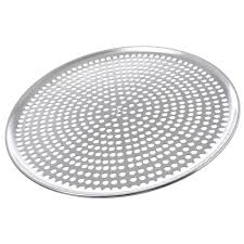"Browne Pizza Pan 14"" Perforated Aluminum"