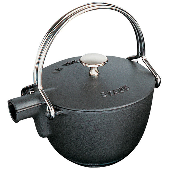 Staub 1.1L Teapot Cast Iron - Black