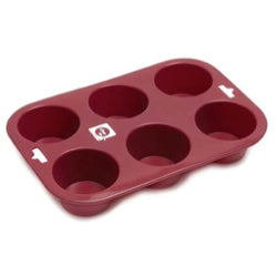 Piatto Pieno Silicone Muffin Tray 6-Hole
