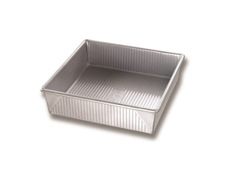 "USA Pan Aluminized Steel 9"" x 9"" Square Cake Pan"