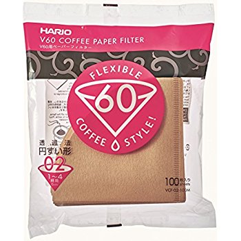 Hario Brown Filters for V60-02 Hario - 40 Pack
