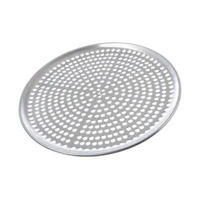 "Browne Pizza Pan 12"" Perforated Aluminum"
