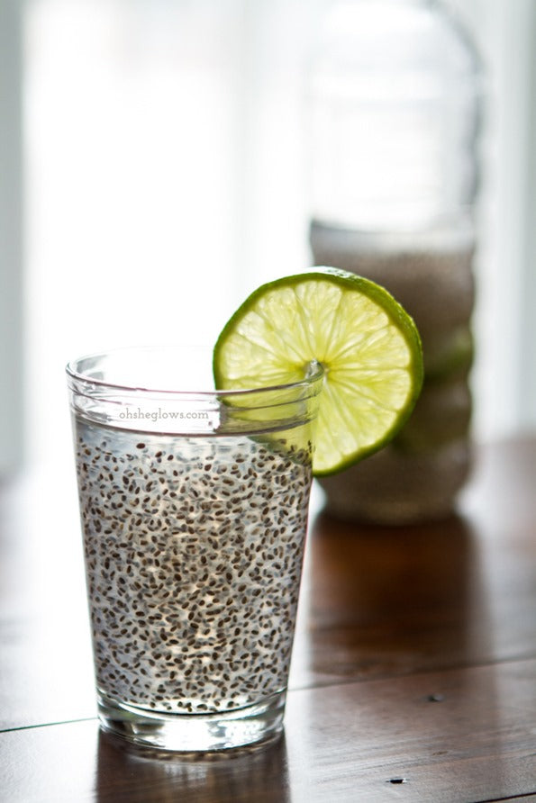 Chia seed and coconut water detox drink (chia fresca)