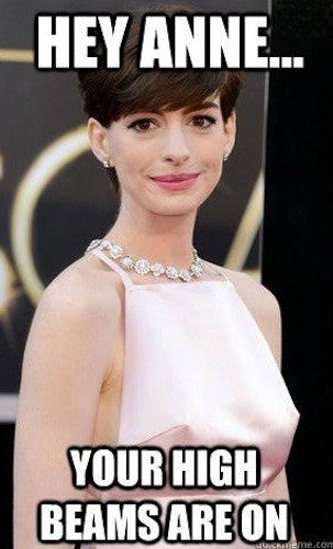 Anne Hathaway should have known it would be chilly on the red carpet!