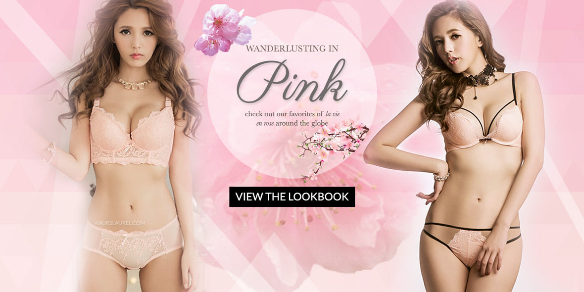 Wanderlust in Pink - a Pink Lingerie Lookbook by Petite Cherry