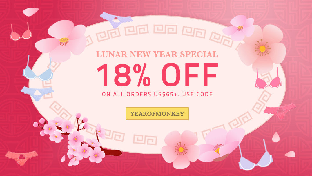 Chinese New Year Lingerie Sale from Petite Cherry