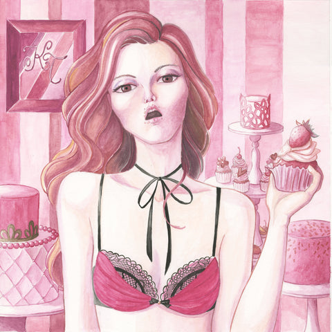 Talented Customer Draws Petite Cherry Lingerie!