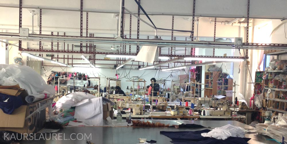A swimsuit factory converted into a lingerie factory near Shenzhen, China