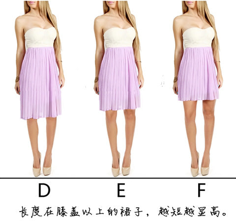 Skirt length affects leg proportions!