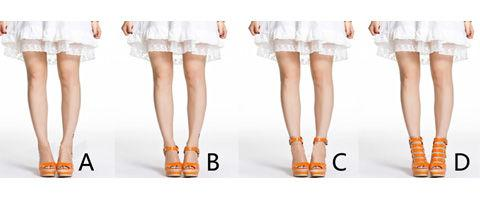 The impact of ankle straps of shoes on leg length