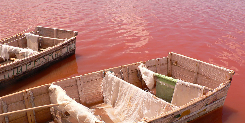 Lac Rose in Senegal