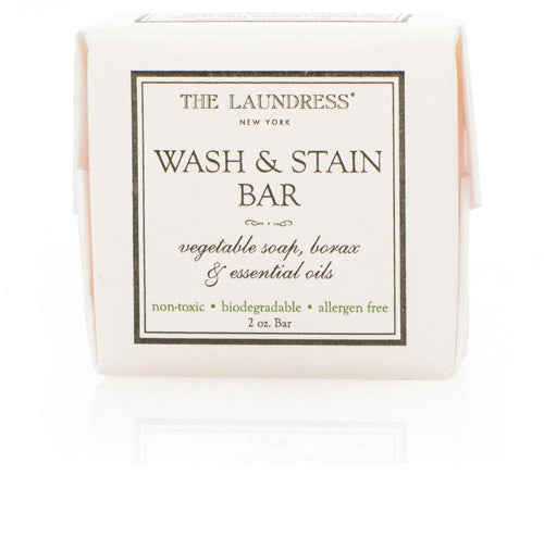 The Laundress Wash and Stain Bar - it's non toxic, biodegradable and allergen free. Our top pick for removing stains on lingerie