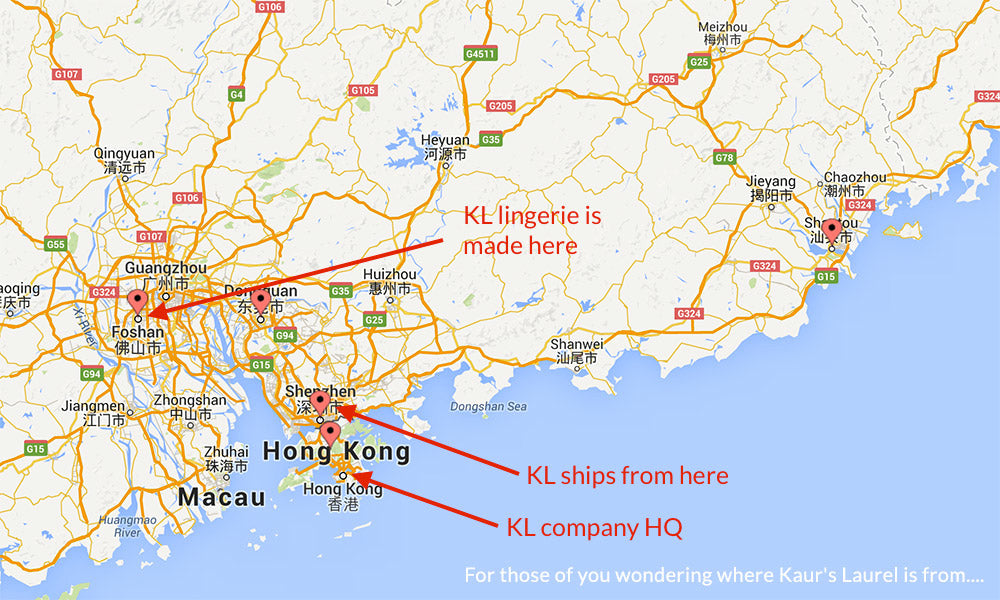 Lingerie Manufacturing and Production hotspots in China
