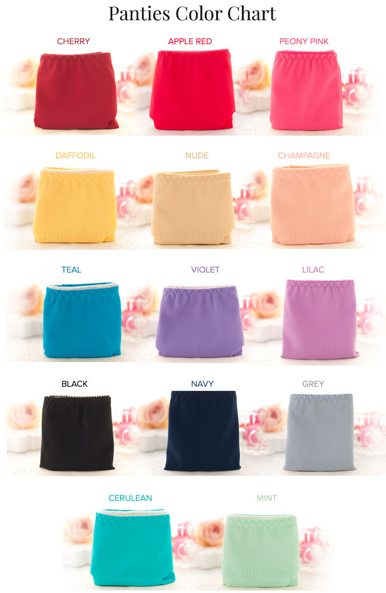 Seamless Invisible Panties Color Chart from Petite Cherry