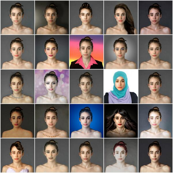 The ideal woman as photoshopped from artists in 25 countries