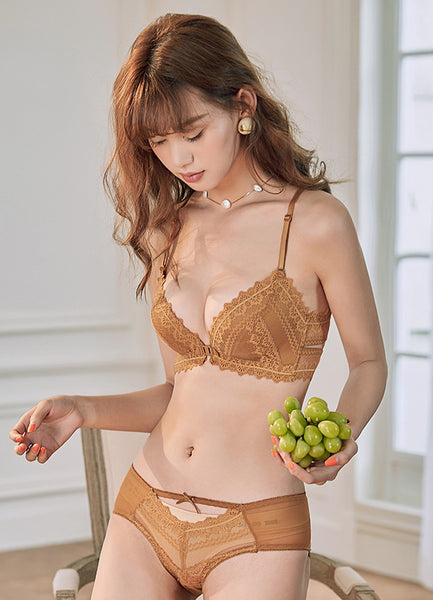 Annalise Demi Padded Bra Set (Brown)