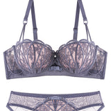 Cardi Extreme Push-Up Bra Set (Purple)