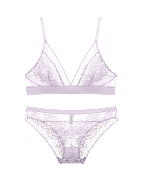 Kerry Unlined Bralette Set (Purple)