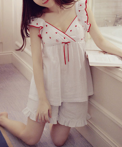Sweetheart Chemise and Shorts Set