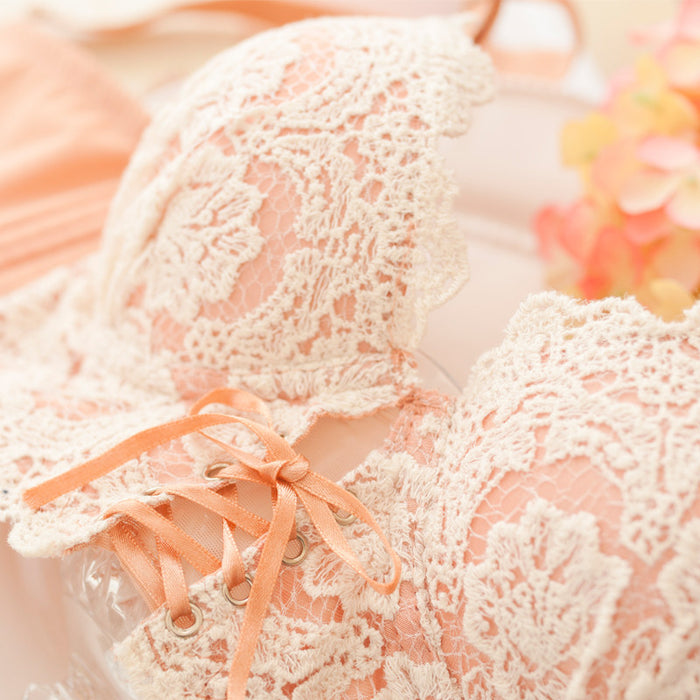Beatrice Push-Up Bustier-Style Lace Bra Panty Set