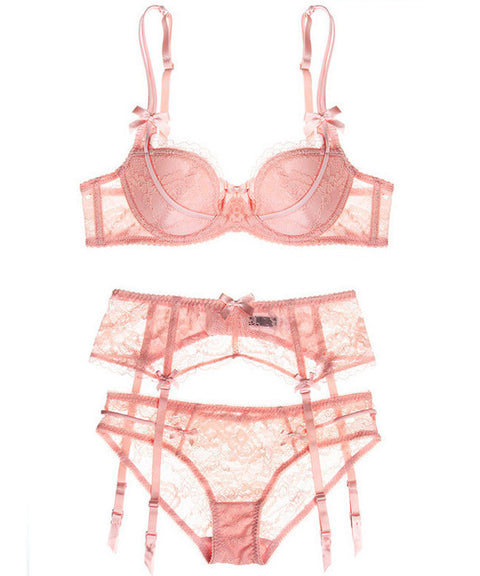 Hampton Lace Lingerie Set (Pink)