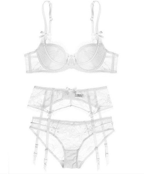 Hampton Lace Lingerie Set (White)