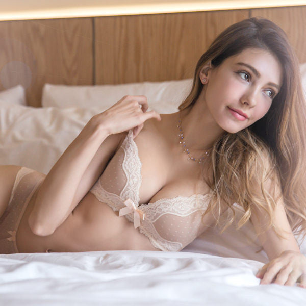 Stella Full-Coverage Comfort Bra and Panty Set (Nude)
