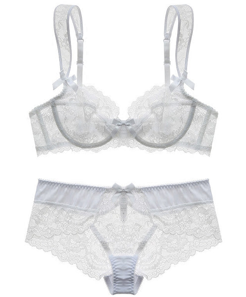 Seychelles Sheer Bra Set (White)