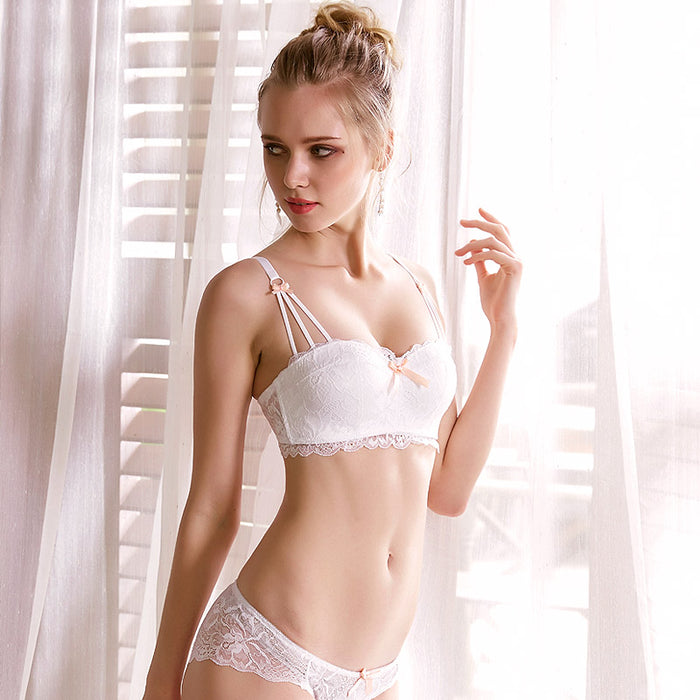Sonnet Padded Balconette Bra and Panty Set (White)