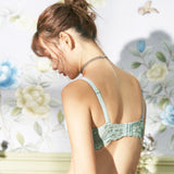 Caress Balconette Push-Up Bra Set (Green)