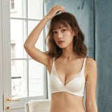 Honey Padded Full-Cup Bra Set (White)