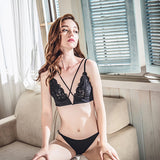 Misa Sheer Bralette Set (Black)