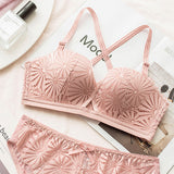 Eliza Balconette Push-Up Bra Set (Pink)