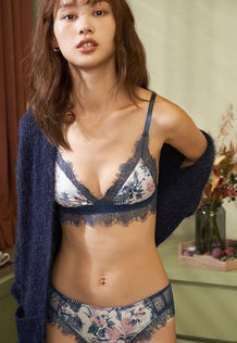 Sophia Bralette Set (Blue)