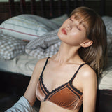 Desire Velvet Bralette Set (Brown)