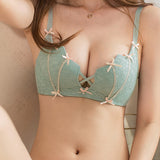 Jezel Push-Up Lace Bra Set (Green)