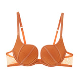 Maybelle Deep Plunge Push Up Bra (Orange)