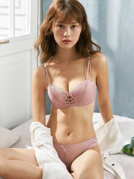 Renee Balconette Push-Up Bra Set (Pink)