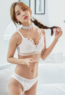 Serenity Push Up Bustier Lace Bra Set