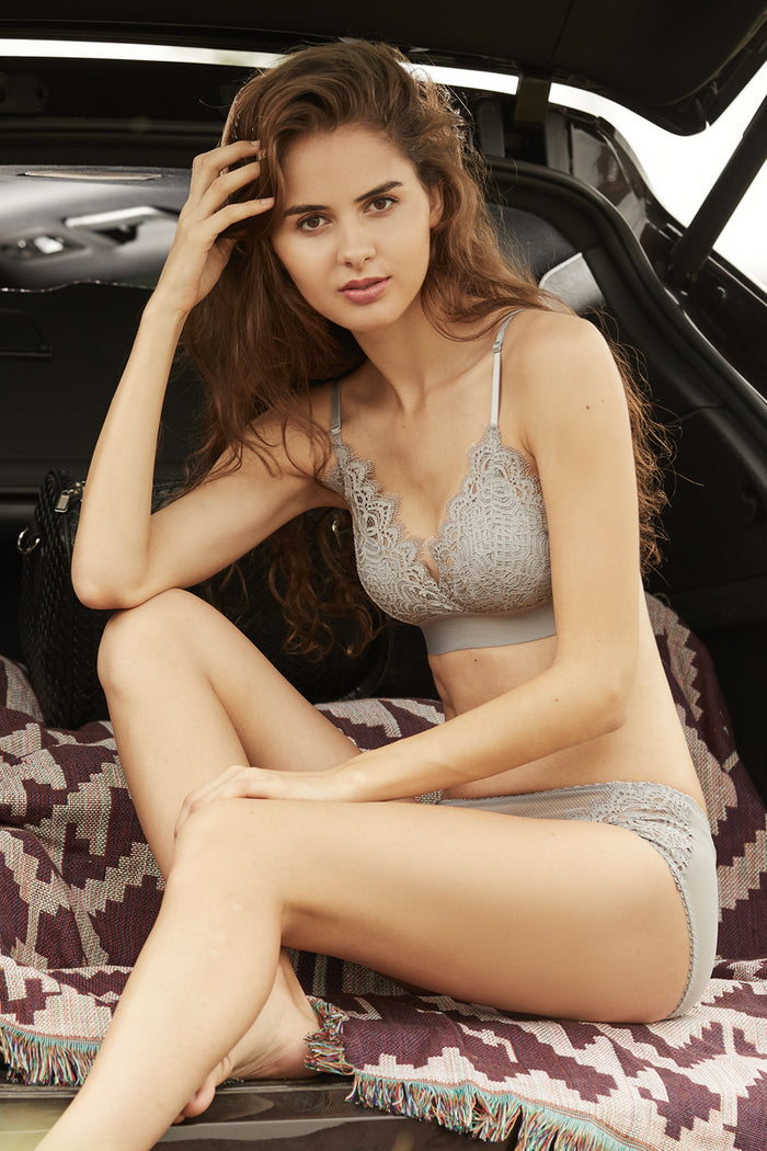 Solera Lace Padded Bralette and Panty Set