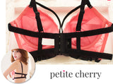 Nicole Strappy Push-Up Bustier-Style Bra Set (Pink) - Petite Cherry  - 7
