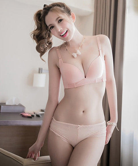 Miu Smooth Wireless Soft Bra (Pink) - Petite Cherry  - 1
