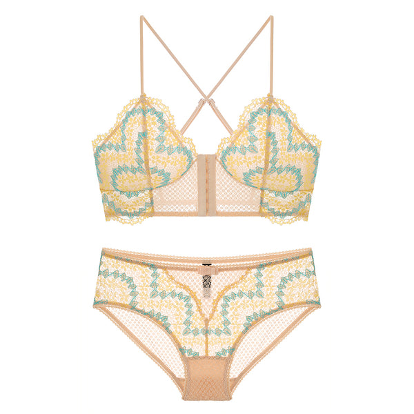 Tropical Love Sheer Bralette Set - Petite Cherry