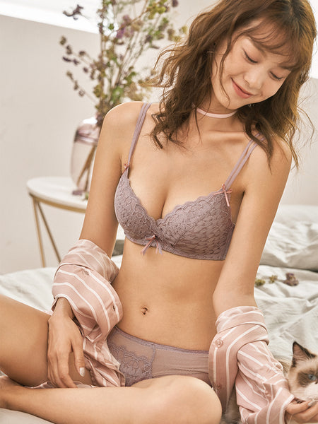 Vianna Demi Extreme Push-Up Bra Set (Mauve)